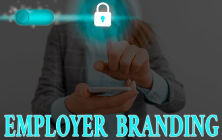 Handwriting text writing Employer Branding. Conceptual photo promoting company employer choice to desired target group