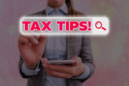 Text sign showing Tax Tips. Business photo text compulsory contribution to state revenue levied by government