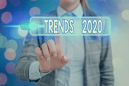 Word writing text Trends 2020. Business photo showcasing general direction in which something is developing or changing Standard-Bild