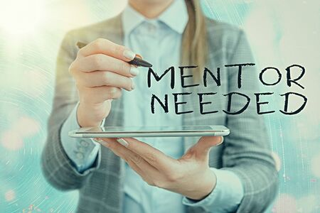 Text sign showing Mentor Needed. Business photo text wanted help for more experienced or more knowledgeable an individual