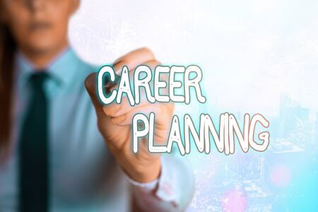 Word writing text Career Planning. Business photo showcasing Strategically plan your career goals and work success