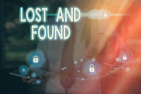 Word writing text Lost And Found. Business photo showcasing a place where lost items are stored until they reclaimed