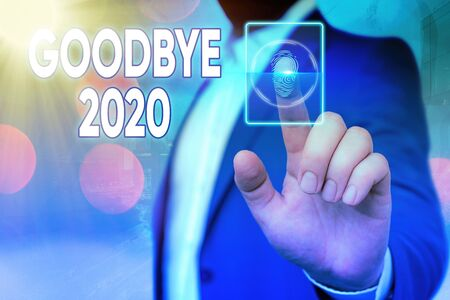 Handwriting text Good Bye 2020. Conceptual photo express good wishes when parting or at the end of last year