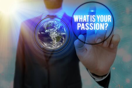 Writing note showing What Is Your Passion Question. Business concept for asking about his strong and barely controllable emotion
