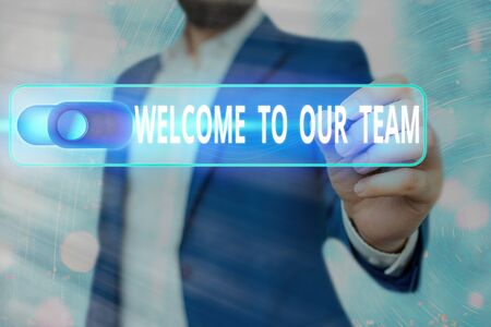 Word writing text Welcome To Our Team. Business photo showcasing introducing another an individual to your team mates