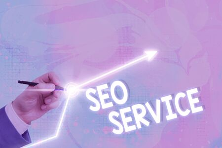 Text sign showing Seo Service. Business photo text techniques and procedures to increase the website visibility