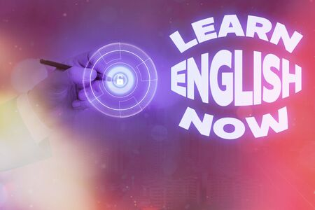 Handwriting text writing Learn English Now. Conceptual photo gain or acquire knowledge and skill of english language Reklamní fotografie