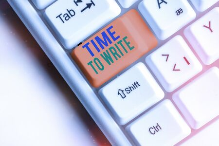 Writing note showing Time To Write. Business concept for to record something or to express an idea in paper or book Archivio Fotografico