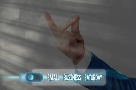 Text sign showing Small Business Saturday. Business photo text American shopping holiday held during the Saturday 版權商用圖片