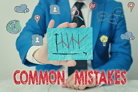 Handwriting text writing Common Mistakes. Conceptual photo actions that are often used interchangeably with error