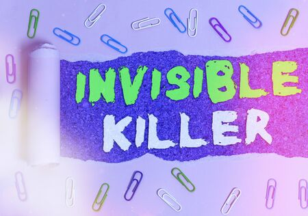 Handwriting text writing Invisible Killer. Conceptual photo presence into the air of a substance which are harmful