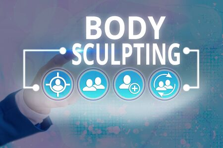Word writing text Body Sculpting. Business photo showcasing activity of increasing the body s is visible muscle tone