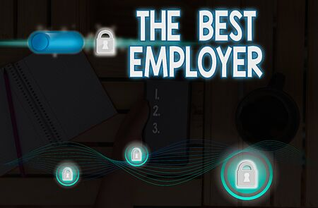 Handwriting text writing The Best Employer. Conceptual photo created workplace showing feel heard and empowered Banco de Imagens