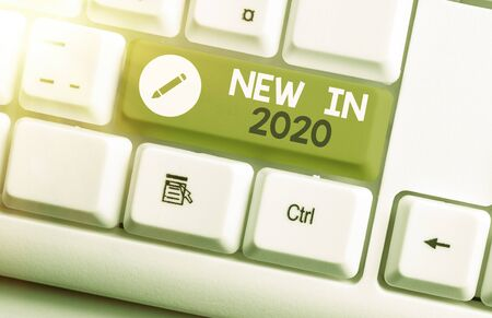 Word writing text New In 2020. Business photo showcasing what will be expecting or new creation for the year 2020
