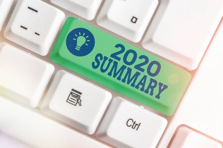 Word writing text 2020 Summary. Business photo showcasing brief comprehensive especially covering the main points of 2020