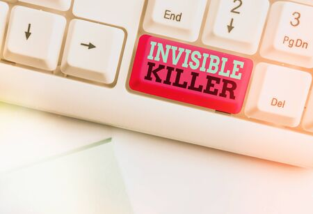 Handwriting text Invisible Killer. Conceptual photo presence into the air of a substance which are harmful Imagens