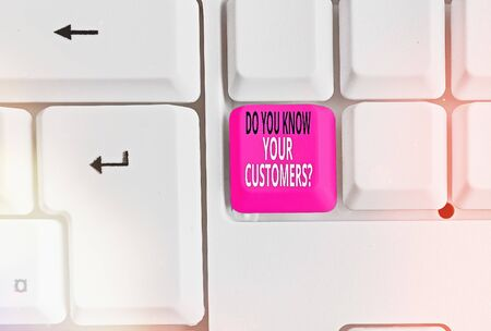 Word writing text Do You Know Your Customers question. Business photo showcasing asking to identify a customer s is nature