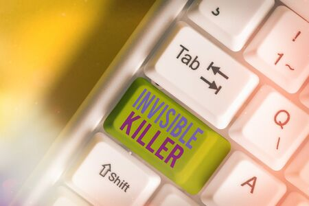 Conceptual hand writing showing Invisible Killer. Concept meaning presence into the air of a substance which are harmful