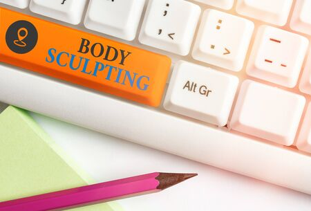 Handwriting text writing Body Sculpting. Conceptual photo activity of increasing the body s is visible muscle tone
