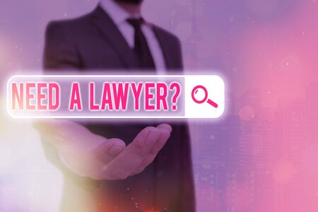 Text sign showing Need A Lawyer Question. Business photo text asking someone who need a legal issues and disputes Reklamní fotografie
