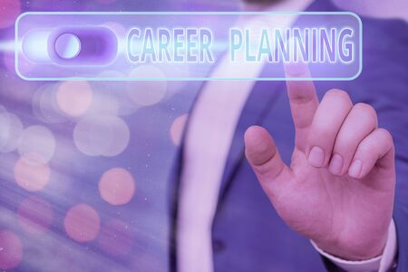 Handwriting text Career Planning. Conceptual photo Strategically plan your career goals and work success Imagens