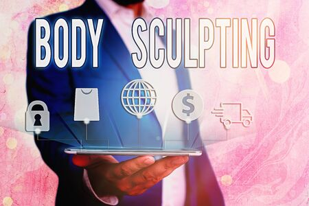 Handwriting text Body Sculpting. Conceptual photo activity of increasing the body s is visible muscle tone