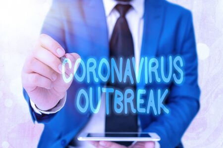 Word writing text Coronavirus Outbreak. Business photo showcasing infectious disease caused by newly discovered COVID19 Stock fotó