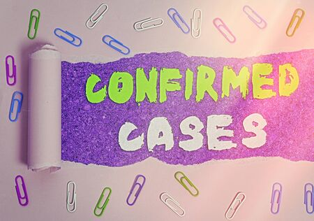 Handwriting text writing Confirmed Cases. Conceptual photo set of circumstances or conditions requiring action