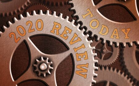Writing note showing 2020 Review. Business concept for New trends and prospects in tourism or services for 2020