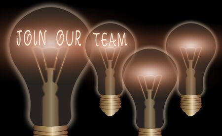 Text sign showing Join Our Team. Business photo text inviting someone to join in your local group or company
