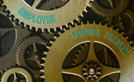 Conceptual hand writing showing Employee Referral Program. Concept meaning employees are rewarded for introducing recruits