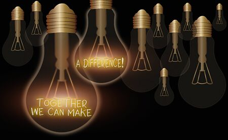 Handwriting text Together We Can Make A Difference. Conceptual photo be very important some way in like team or group Foto de archivo
