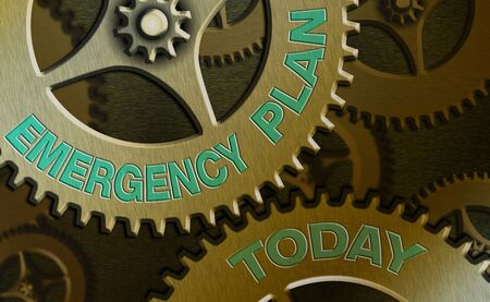 Word writing text Emergency Plan. Business photo showcasing instructions that outlines what workers should do in danger