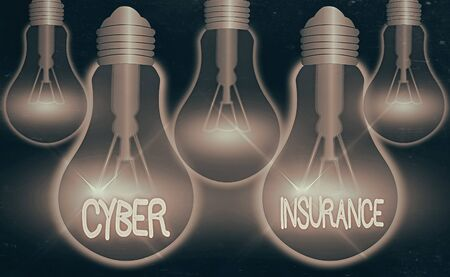 Writing note showing Cyber Insurance. Business concept for exclusive plan to protect the company from Internetbased risk