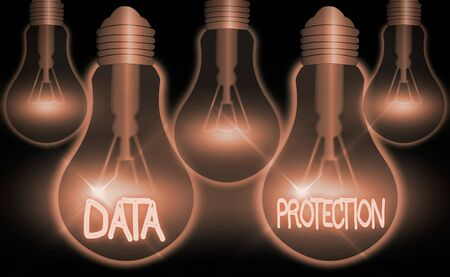 Writing note showing Data Protection. Business concept for safeguarding information away from a possible data breach