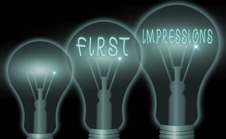 Text sign showing First Impressions. Business photo showcasing events when one an individual encounters another an individual