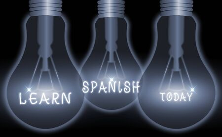 Conceptual hand writing showing Learn Spanish. Concept meaning to train writing and speaking the national language of Spain