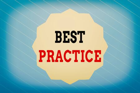 Word writing text Best Practice. Business photo showcasing Selective Focus Proven Ideas for Success and Effective Twelve 12 Pointed Star shape Dodecagon in Solid Color Zigzag effect Polygon