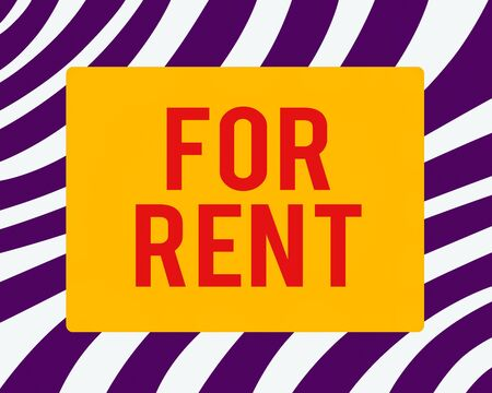 Word writing text For Rent. Business photo showcasing Occupying an establishment currently on a lease paid periodically Horizontal Rectangular Shape with Bended Corner Blank Four sides Figure
