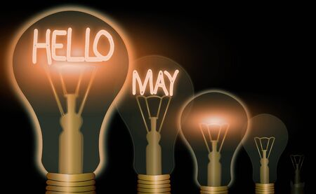 Word writing text Hello May. Business photo showcasing to address the fifth month of the year with inspiration and encouragement Banque d'images