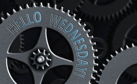 Conceptual hand writing showing Hello Wednesday. Concept meaning it is a good day when you reach in the middle of the week
