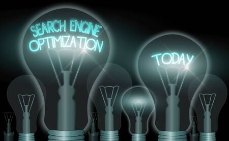 Writing note showing Search Engine Optimization. Business concept for Increase of business website traffic and analytics