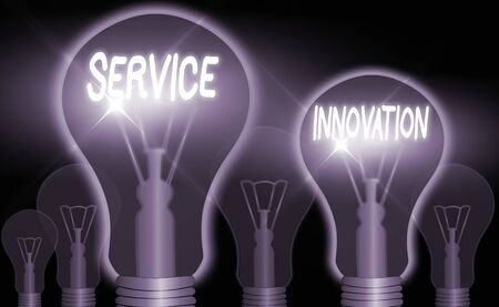 Word writing text Service Innovation. Business photo showcasing changing the way you serve customers for greater value