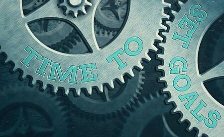 Text sign showing Time To Set Goals. Business photo showcasing management tips Start training Eliminate bad habits