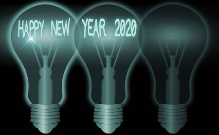 Word writing text Happy New Year 2020. Business photo showcasing celebration of the beginning of the calendar year 2020