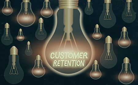 Text sign showing Customer Retention. Business photo text activities companies take to reduce user defections