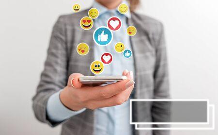 Social Media Digital Network Concepts Design Element Icons Illustration.