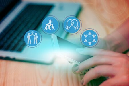 Secured Search Of Citizen National Identification Data Information Details Stock Photo