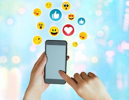 Social Media Communication Chat Messages Blank Speech Bubble Flat Icon Stok Fotoğraf