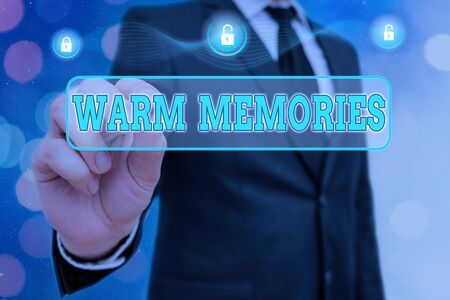 Handwriting text Warm Memories. Conceptual photo reminiscing the unforgettable collection of past events